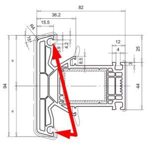 W słupku stałym sygnatura jest pod uszczelką z lewej lub prawej strony